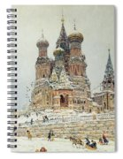 Church Of St. Basil In Moscow Spiral Notebook