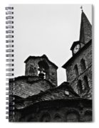 Church Of The Assumption Of Mary In Bossost - Abse And Tower Bw Spiral Notebook