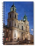 Church Of The Holy Cross At Night In Warsaw Spiral Notebook
