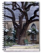 Church On Rosedale With A Dusting Of Snow Spiral Notebook