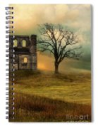 Church Ruin With Stormy Skies Spiral Notebook