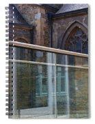Church Seen Through A Transperant Screen  Spiral Notebook