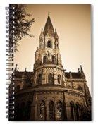 Church Towere In Sepia 1 Spiral Notebook