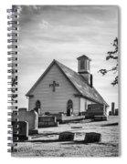 Churchyard Bw Spiral Notebook