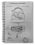 Cider Mill Patent Drawing Spiral Notebook
