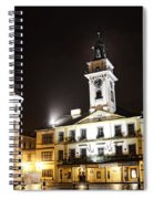Cieszyn Town Center At Night Spiral Notebook
