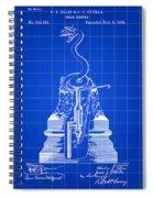 Cigar Lighter Patent 1888 - Blue Spiral Notebook