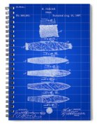Cigar Patent 1887 - Blue Spiral Notebook