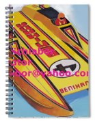Cigarett Power Boat Illustration Spiral Notebook