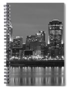 Cincinnati Black And White Panoramic View Spiral Notebook