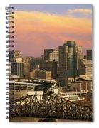 Cincinnati Over The Bridge Spiral Notebook
