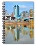 Cincinnati Skyline Reflects Spiral Notebook