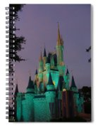 Cinderella Castle At Night  Spiral Notebook