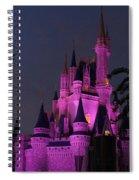 Cinderella Castle Illuminated In Pink Glow Spiral Notebook
