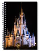 Cinderella's Castle In Magic Kingdom Spiral Notebook
