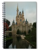 Cinderella's Castle Reflected Spiral Notebook