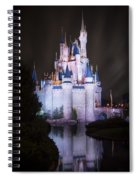 Cinderella's Castle Reflection Spiral Notebook