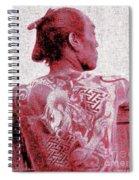 Circa 1900 Samurai Tattoo In Red Spiral Notebook