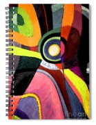 Circle Abstract #4 Spiral Notebook