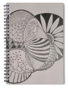 Circles Of Zen Tangle Spiral Notebook