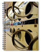Circular Doors On Laundromat Washing Machines Spiral Notebook