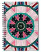 Circular Patchwork Art Spiral Notebook