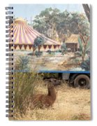 circus circus 2 - A vintage circus wagon with african paint and llama camel  Spiral Notebook