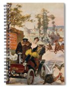 Circus Star Kidnapped Wilhio S Poster For De Dion Bouton Cars Spiral Notebook