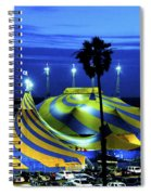Circus Tent Swirls Of Blue Yellow Original Fine Art Photography Print  Spiral Notebook