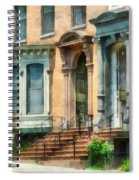 Cities - Albany Ny Brownstone Spiral Notebook