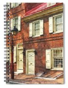 Cities - Philadelphia Brownstone Spiral Notebook