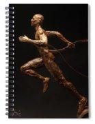 Olympic Runner Citius Altius Fortius  Spiral Notebook