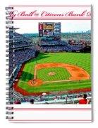 Citizens Bank Park Phillies Baseball Poster Image Spiral Notebook