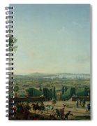 City And Port Of Toulon, 1756 Oil On Canvas Spiral Notebook