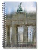 City-art Berlin Brandenburg Gate Spiral Notebook