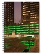 City At Night Urban Abstract Spiral Notebook