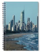 City At The Waterfront, Surfers Spiral Notebook