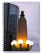 City At Twilight Spiral Notebook