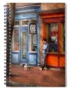 City - Baltimore Md - Waiting By Joe's Bike Shop  Spiral Notebook