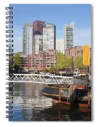 City Centre Of Rotterdam In Netherlands Spiral Notebook