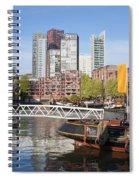 City Centre Of Rotterdam In Netherlands Spiral Notebook