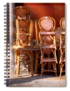 City - Chairs - Red Spiral Notebook