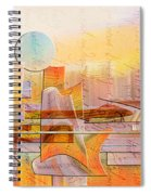 City Commerce Panoramic Spiral Notebook