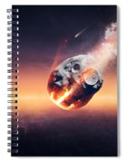City Destroyed By Meteor Shower Spiral Notebook