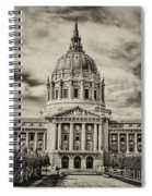 City Hall Antiqued Print Spiral Notebook