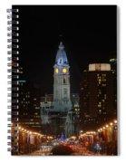 City Hall At Night Spiral Notebook