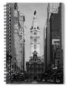 City Hall B/w Spiral Notebook
