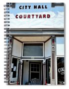 City Hall Courtyard Spiral Notebook