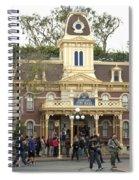 City Hall Main Street Disneyland Spiral Notebook