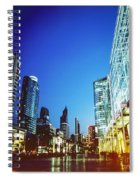 City In Twilight Spiral Notebook